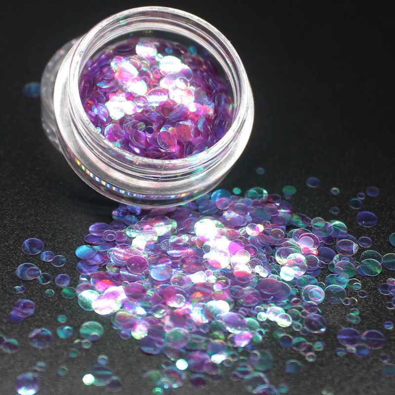 2018 Nieuwe 12 Kleur Ronde Ultradunne Pailletten Kleurrijke Nail Art Glitter Tips Manicure 3D Nail Decoratie Diy Accessoires Mode Meisje