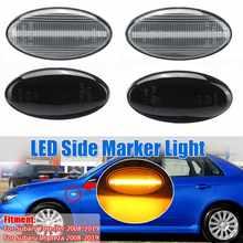 Paar LED Seite Maker Lichter für Subaru Impreza Wrx Sti Subaru Wald 2008-2019 Blinker Anzeige Licht Seite repeater Lampe
