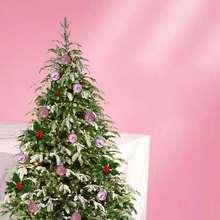 24 шт шикарные рождественские безделушки для елки простые блестящие рождественские украшения шар украшение розовый