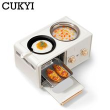 Frying-Pan Bread-Maker Hot-Pot CUKYI Electric Multifunction Mini Household Toaster 4-In-1