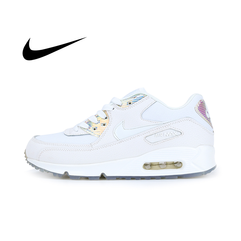 Original Authentic Nike AIR MAX 90 PREMIUM Women's Running Shoes Sport Outdoor Sneakers Athletic Designer Footwear 443817-104