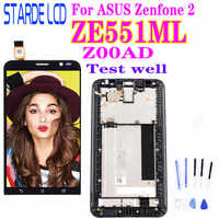 5.5 ''Original LCD für ASUS Zenfone 2 ZE551ML LCD Display Touch-Screen-Digitizer mit Rahmen für ASUS Zenfone 2 ZE551ML Z00AD LCD