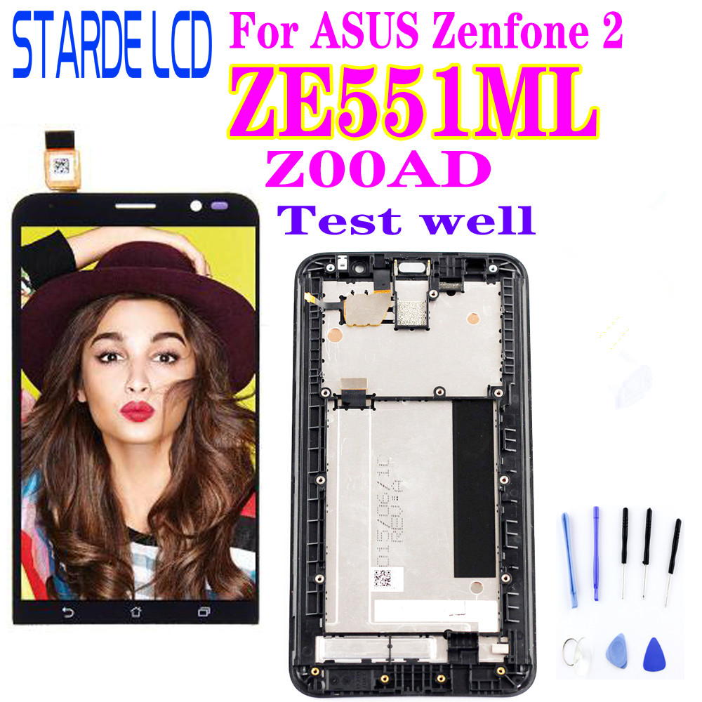 5.5'' Original LCD For ASUS Zenfone 2 ZE551ML LCD Display Touch Screen Digitizer With Frame For ASUS Zenfone 2 ZE551ML Z00AD LCD