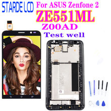 5.5 ''Original LCD für ASUS Zenfone 2 ZE551ML LCD Display Touch-Screen-Digitizer mit Rahmen für ASUS Zenfone 2 ZE551ML Z00AD LCD(China)