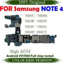 Placa base para Samsung Galaxy Note 4, versión europea, 32gb, N910U, N910G, N910F, N910T, N910C, N910A, N910P, N910V