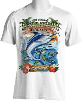 Sport Fishing T-Shirt Charter Boat Mexico Marlin Fishing Tee Shirt Cotton O-Neck Short Sleeve Men's T Shirt Size S-3XL New men s o neck popuko and pipimi t shirt yakuza pop team epic tee shirt vintage t shirt cotton s 6xl camiseta