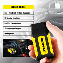 NEXPEAK K3 OBD2 Scanner Heavy Duty Car Diagnosis for Both Passenger Car and Heavy Duty Truck Odometer Adjustment Diagnostic Tool