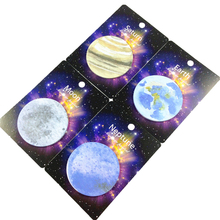 2pack/lot new arrival creative Earth/Moon/Neptune/Saturn note pads circular memo message School office supplies