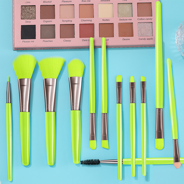 BANFI Blue Makeup Brushes Set Cosmetic Powder Solid Eye Shadow Foundation Blush Blending Beauty Tool Make Up Brush Maquiagem 6