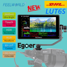 FEELWORLD LUT6S 6 Inch 2600nits HDR 3D LUT Touch Screen on Camera Field DSLR Monitor with Waveform for Stabilizer Youtube(China)