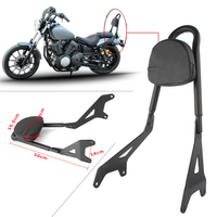 Motorcycle Sissy Bar Seat Passenger Backrest Rack For Yamaha Star XVS950 Bolt XV950 2014 2015 2016 2017 Black