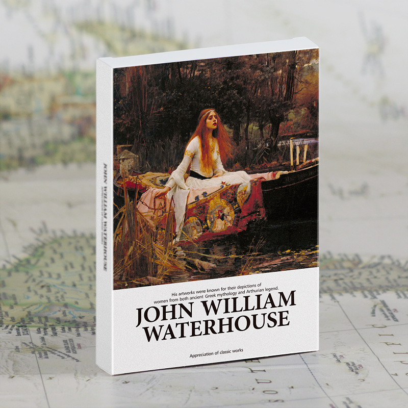 30 Pcs/Set William Waterhouse Oil Painting Postcard INS Style Greeting Cards DIY Journal Decoration Gift Card