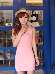 Women's Dress Spring Summer Sleeveless Vestido Suspender Multiple-Colors New