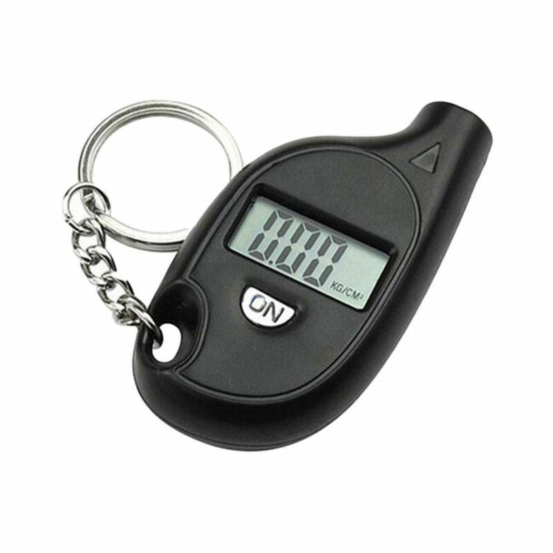 1pc LCD Digital Display Tire Tyre Wheel Air Pressure Gauge Tester Measure Portable Keychain Pendant Car Accessories