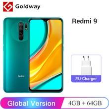 Versão global xiaomi redmi 9 4gb 64gb smartphone helio g80 octa núcleo 13mp quad câmera 6.53