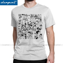 Anime Clothing T-Shirt Haikyuu Manga Bokuto-Volleyball Tees Short-Sleeve Crew-Neck Collage