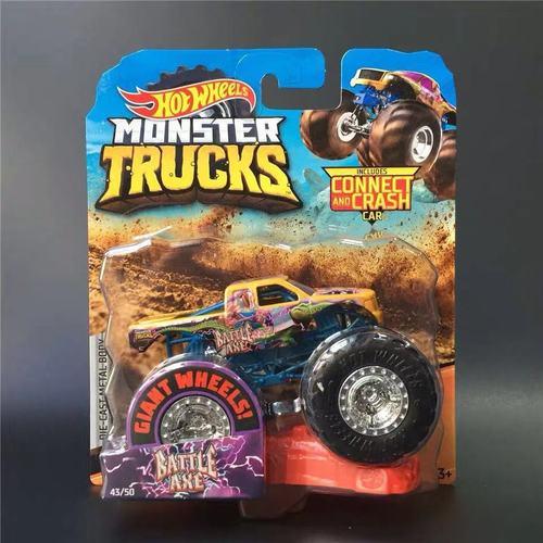 1: 64 оригинальные горячие колеса гигантские колеса Crazy Barbarism Монстр металлическая модель грузовика игрушки Hotwheels большая ножная машина детский подарок на день рождения - Цвет: 43