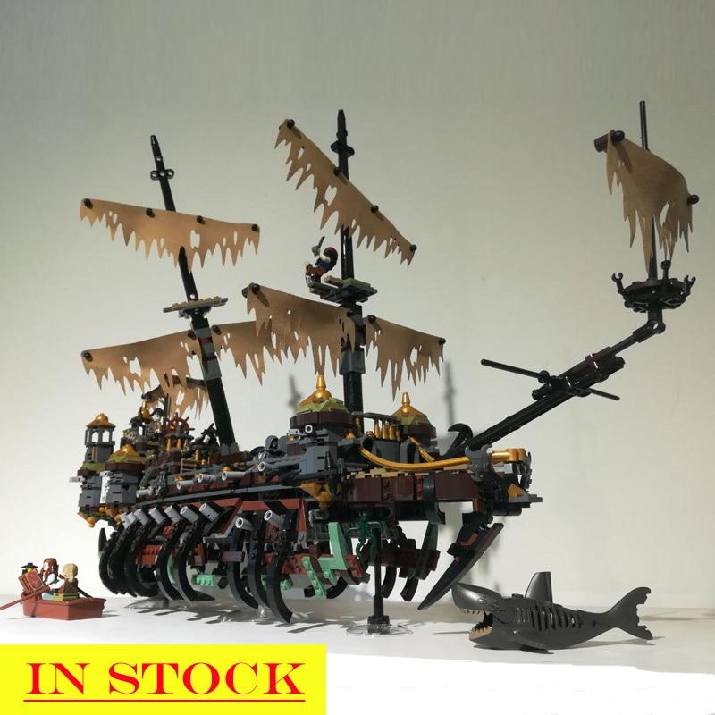 2370 шт., 16042, Пираты Карибского моря, silent Mary, строительные блоки, кирпичи, игрушки, классический стиль корабля, совместим с 71042