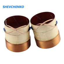 SHEVCHENKO 38.5mm 8Ohm Bass Voice Coil 4 Layer Rround Copper Wire Coil Speaker Accessories Fiberglass Material 2pcs