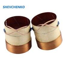 Shevski bobina de voz de bajo de 38,5mm y 8Ohm, cable de cobre redondo de 4 capas, accesorios de altavoz de bobina, Material de fibra de vidrio, 2 uds.
