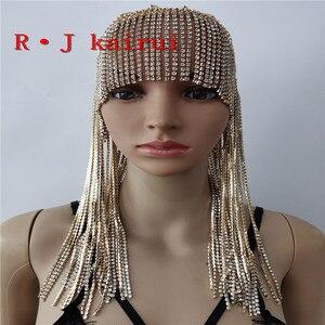Image 5 - ใหม่แฟชั่นสไตล์WRB949ผู้หญิงสายรัดโซ่ทองชั้นใบหน้าโซ่เครื่องประดับคอสเพลย์ผมโซ่เครื่องประดับ3สี