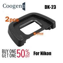 Oculare oculare in gomma DK 23 2 pezzi per Nikon F80 F65 F55 FM10 D100 D200 D300 D300S D600 D610 D700 D750 D7000 D7100 D90 D80 D70S