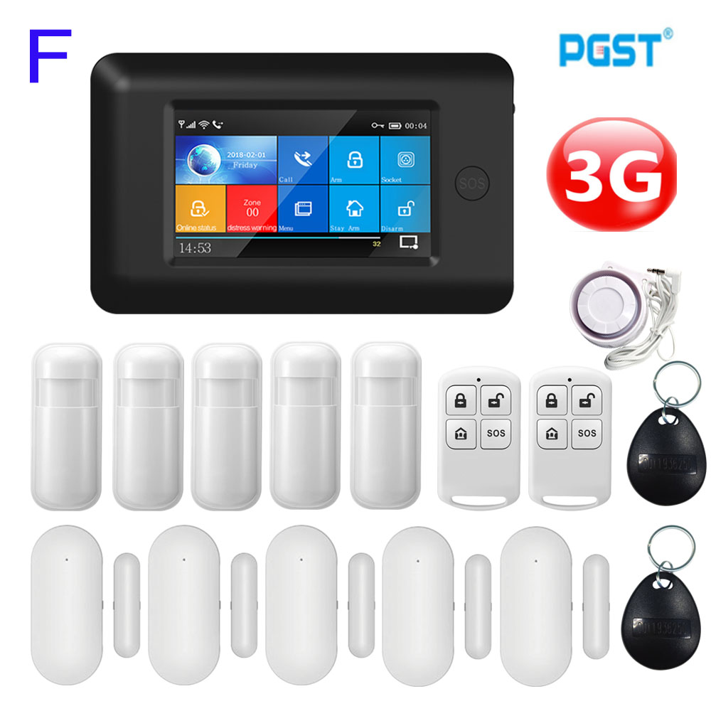 PGST 106 3G Wireless <font><b>Home</b></font> Security WIFI GSM <font><b>Home</b></font> <font><b>Alarm</b></font> <font><b>System</b></font> APP Control With Auto Dial Motion Detector <font><b>Burglar</b></font> <font><b>Alarm</b></font> <font><b>System</b></font> image