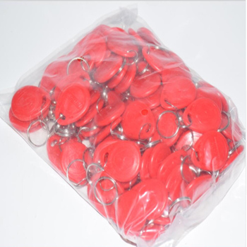 100 pieces 125Khz Keychains RFID Proximity ID Card Token Tags Key Fobs for access control 5 10pcs 1 8mm em4100 tk4100 125khz access control card keyfob rfid tag tags key fob token ring proximity chip