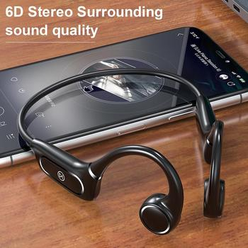 H12 Bluetooth 5.0 Wireless Headphones IP55 Waterproof Bone Conduction Earphone Outdoor Sport Headset With Mic Handsfree Headsets bluetooth 5 0 s wear z8 wireless headphones bone conduction earphone outdoor sport headset with microphone handsfree head