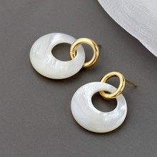 Natural Pearl Shellfish Earring Fashion 18K Gold Plated 925 Sterling Silver Earrings Female Wedding Party Fine Jewelry Gift