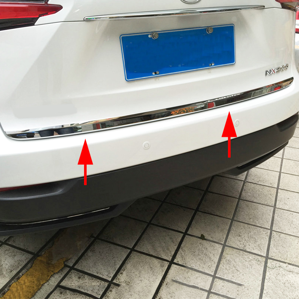 Steel Rear Tail Trunk Lid Cover Strips Moulding For <font><b>Lexus</b></font> <font><b>NX200t</b></font> NX300h <font><b>2015</b></font> 2016 2017 2018 2019 Exterior <font><b>Accessories</b></font> image