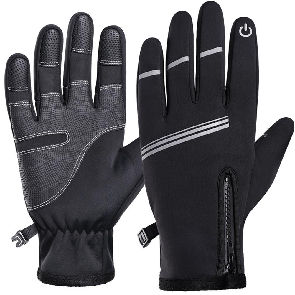 2020 Black Winter Riding Gloves Warm Shock Absorbent Anti-slip Men Outdoor Sports Touch Screen Gloves Freeshipping
