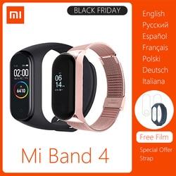 Xiaomi mi banda 3 4 versión Global inteligente muñequera gimnasio reloj pulsera Banda 3 pantalla táctil grande Mensaje de tiempo smartband