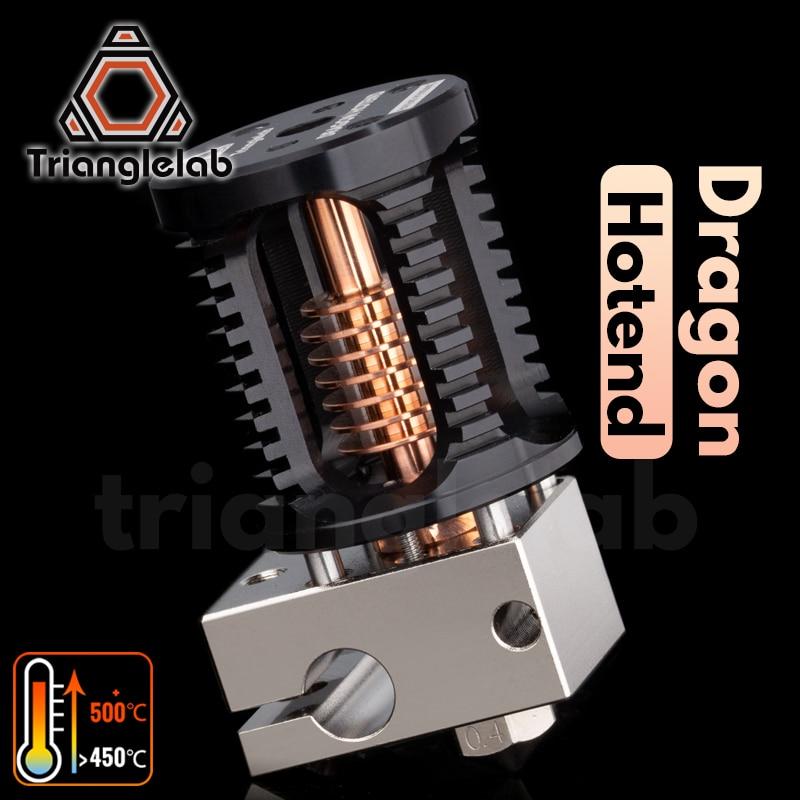 Trianglelab דרקון Hotend סופר דיוק 3D מדפסת שחול ראש תואם עם V6 Hotend ויתושים Hotend מתאם