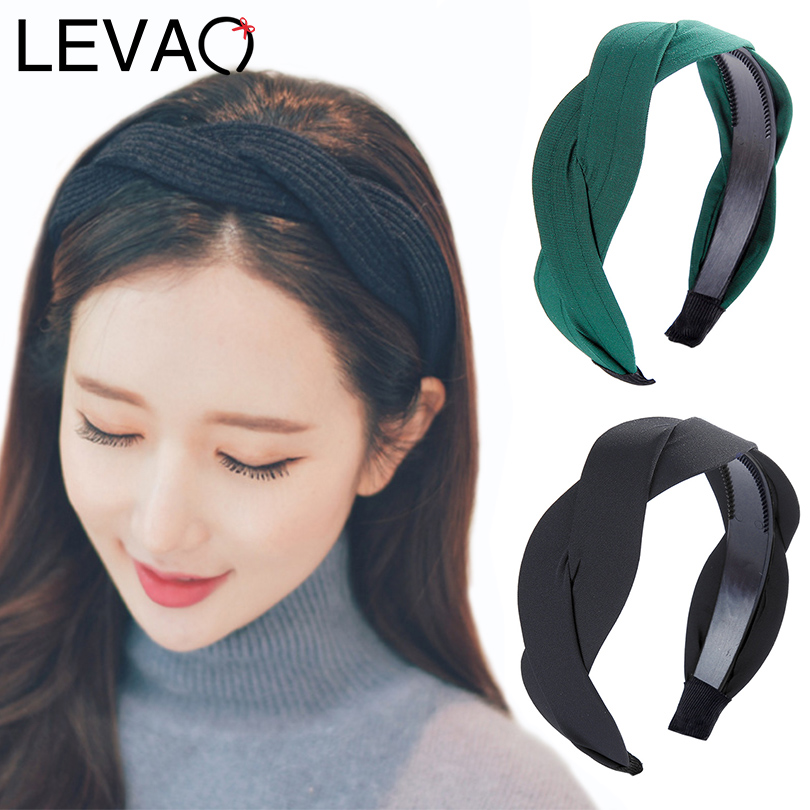 LEVAO Serpentine Winding Cross Headband Vintage Hairbands Bezel Turban Women Girls Hair Accessories Hair Hoop   Headwear   Fashion