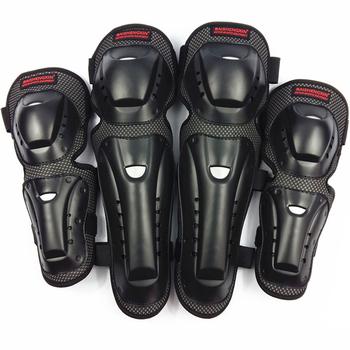 4 sztuk Motocross do jazdy na wrotkach na kolano ochraniacze motocyklowe ochraniacze na kolana i łokcie ochronne podkładki ochronne do jazdy konnej koła zębate uniwersalny ochraniacze ochraniacze tanie i dobre opinie CN (pochodzenie) knee pads black Universal men women