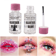 25ML Glitter Glue for Eye Lips Face Body Powder Festival Shimmer Glues High-gloss Eyeshadow Long Lasting Waterproof