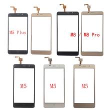 цена на Touch Screen Digitizer Panel For Leagoo M5 M5 Plus M8 M8 Pro Touch Screen Front Glass Sensor TouchScreen 3M Glue