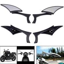 1 пара, универсальные боковые зеркала заднего вида для Honda Yamaha Kawasaki Suzuki Harley Touring Cruiser Chopper Bobber