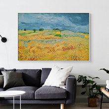 Van Gogh Landscape At Auvers Oil Painting On Canvas Posters And Prints Cuadros Wall Art Pictures For Living Room van gogh starry night oil painting on canvas posters and prints cuadros wall art decorative pictures for living room home decor