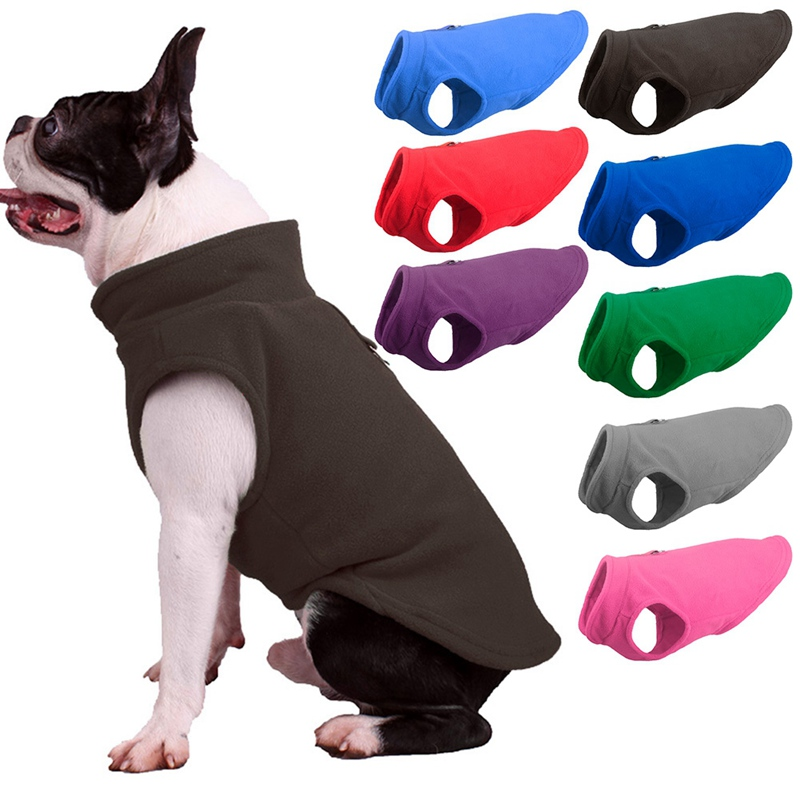 Winter Fleece Pet Clothes for Dogs Puppy Clothing French Bulldog Coat Pug Costumes Jacket For Small Dogs Chihuahua Christmas