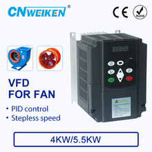 цена на Speed controller For FAN Motor 380V 4KW/5.5KW 3 Phase Input And Three Output 50hz/60hz AC Drive VFD Frequency Inverter
