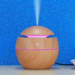 130ML drewna ziarna powietrza ultradźwiękowy nawilżacz usb Aroma dyfuzor olejków eterycznych w domu sypialnia oczyszczacz powietrza| |   -