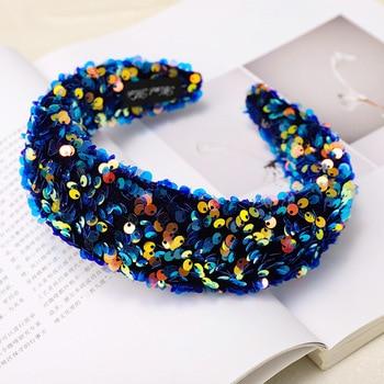 Fabric Shiny Sequin Hairband  3