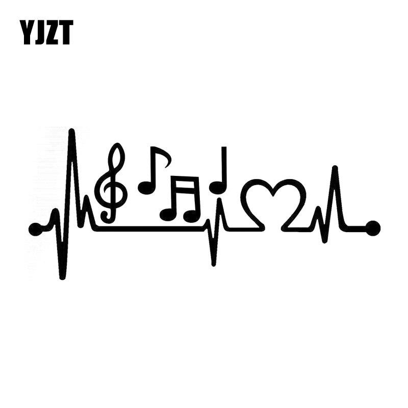 21.5cm * 8.3cm música notas batimento cardíaco carro