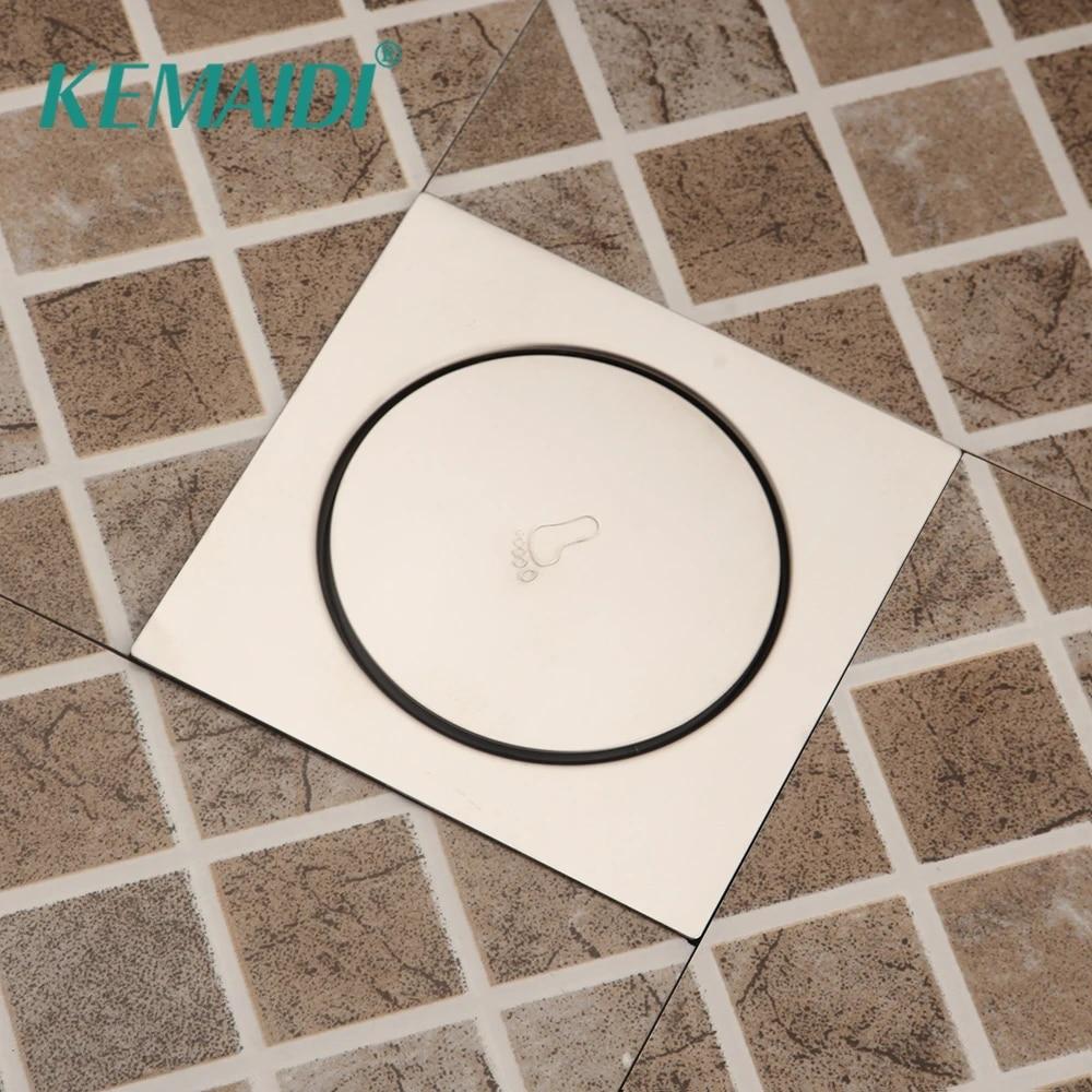 Kemaidi Round Pop Up Foot Floor Drain For Bathroom Floor Cover Shower Room Push Down Drain Plug 10x10cm Drains Aliexpress