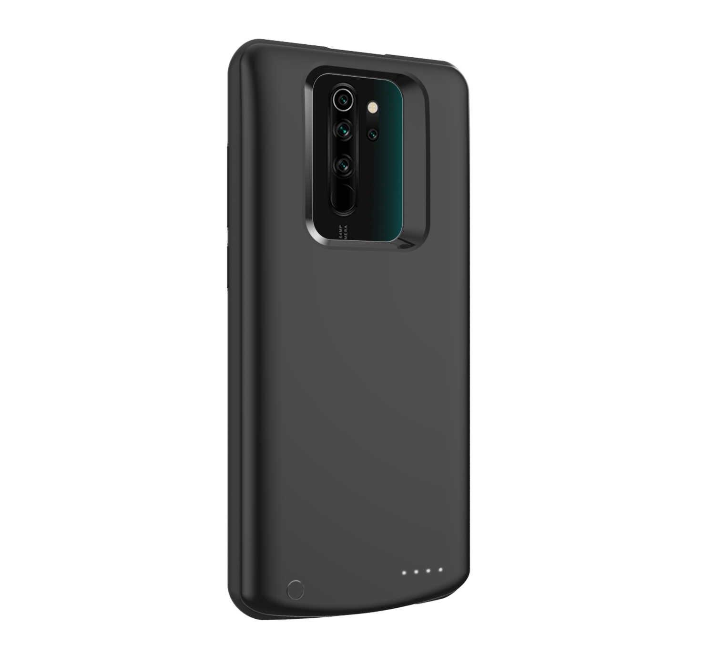 5000 MAh Silikon Shockproof Battery Charger Case untuk Xiaomi Redmi Note 8 Pro Slim Power Bank Eksternal Pengisian Kembali Penuh cover