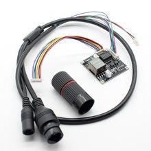 A placa do módulo do ponto de entrada power over ethernet 12 v output ieee802.3af/at complacente para a câmera 8pin do ip da rede do cctv da segurança com cabo do ponto de entrada
