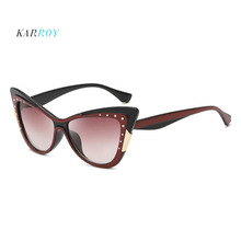 Retro Diamond Cat Eye Ladies Sunglasses UV400 New Arrival Glasses Women 2019