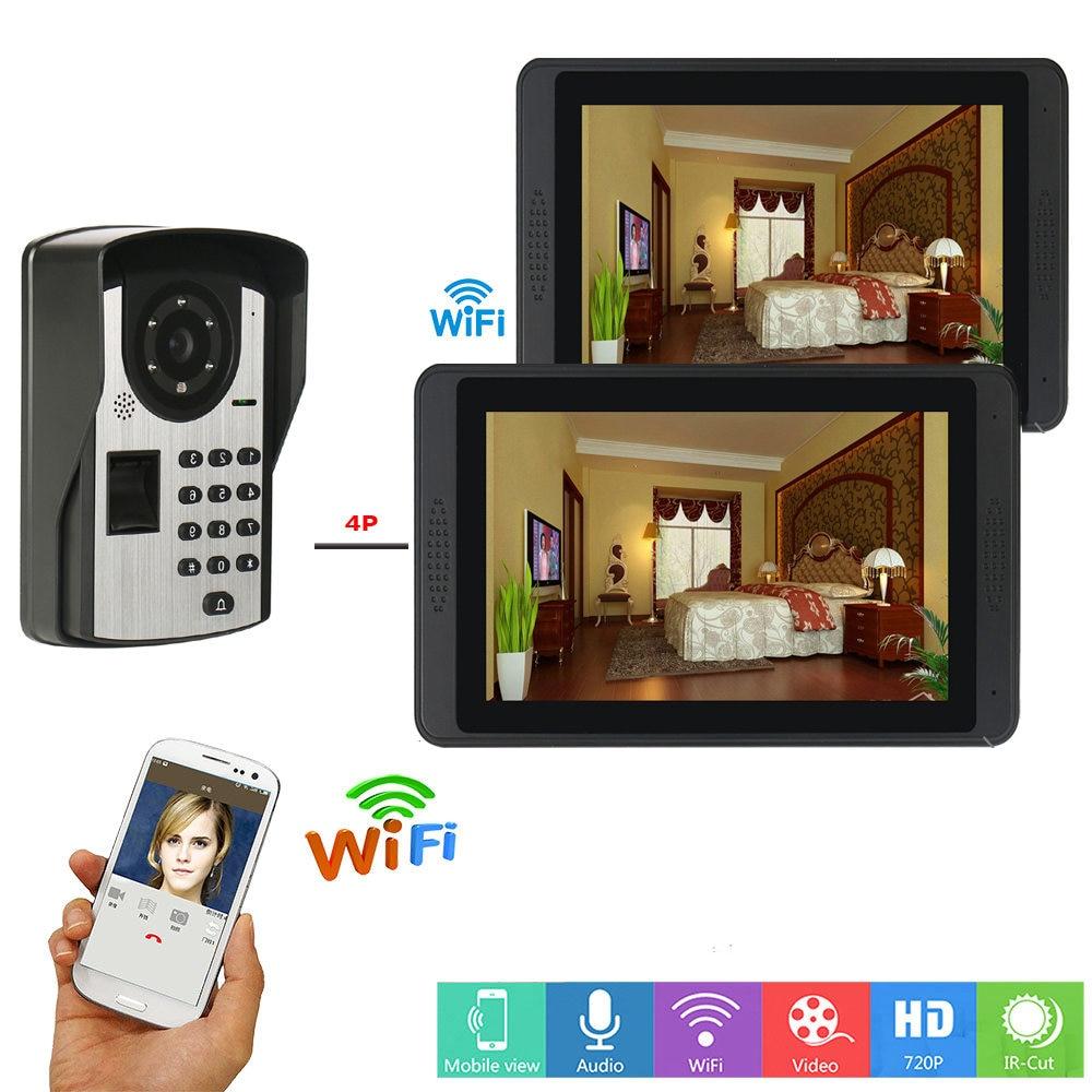 Wifi Smart Visual Intercom IR-CUT HD Camera IP Doorphone Night View Video Doorbell Ring Video Door Phone Doorbell kits